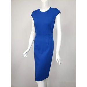 DVF Royal Blue Tailored Sheath Dress